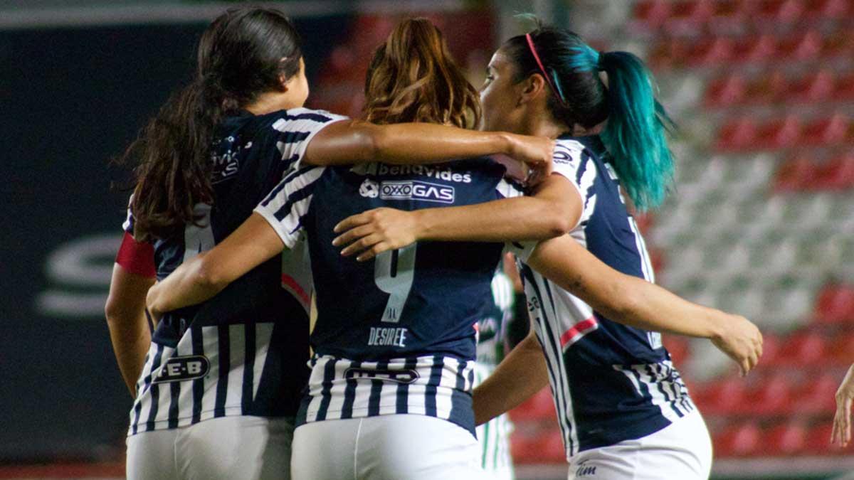 Necaxa 1-6 Monterrey femenil; Rayadas golea y amarra su boleto a liguilla