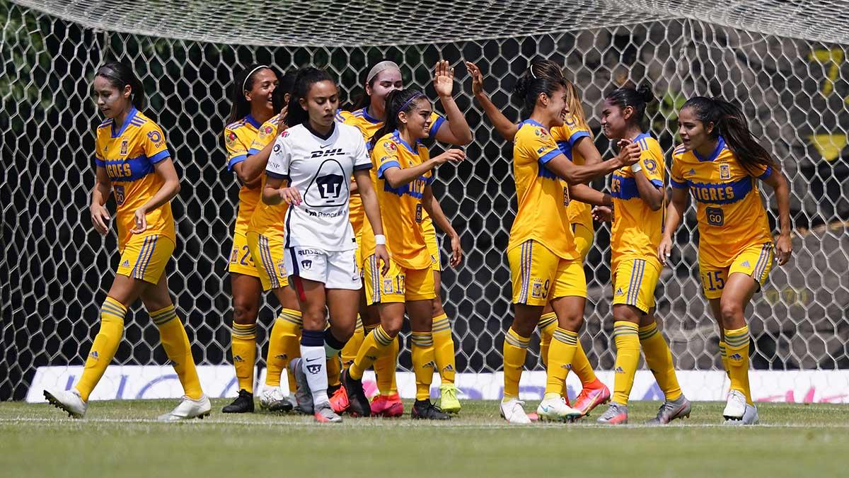 Tigres femenil, nuevo superlíder tras aplastar a Pumas 4-0 en La Cantera