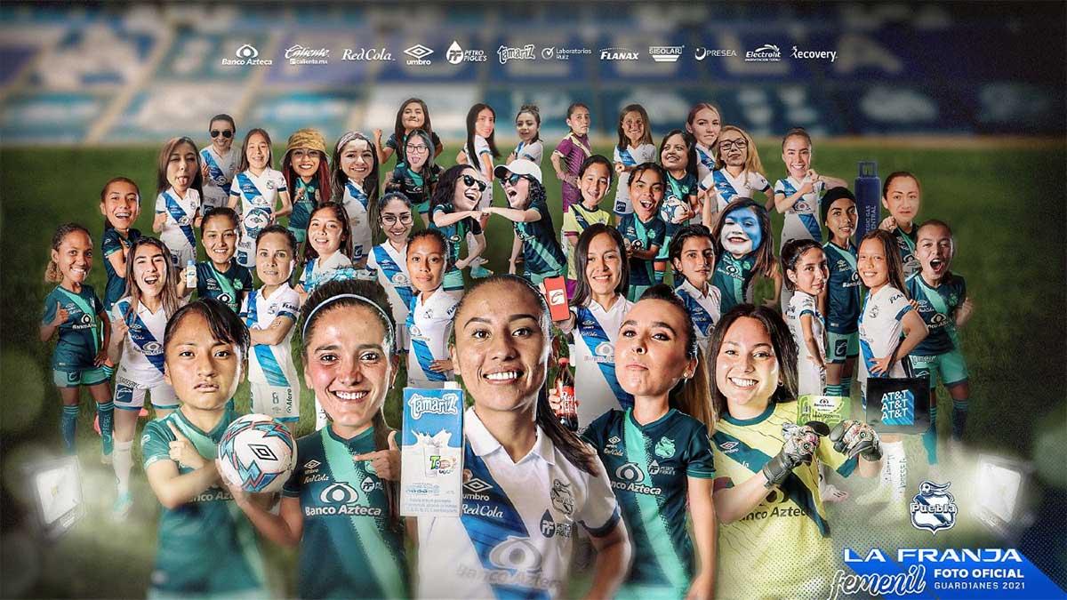 Puebla Femenil se tomó la foto oficial del Guardianes 2021