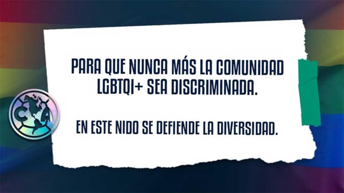 El América comprometido a impulsar inclusión y respeto de comunidad LGBTI+