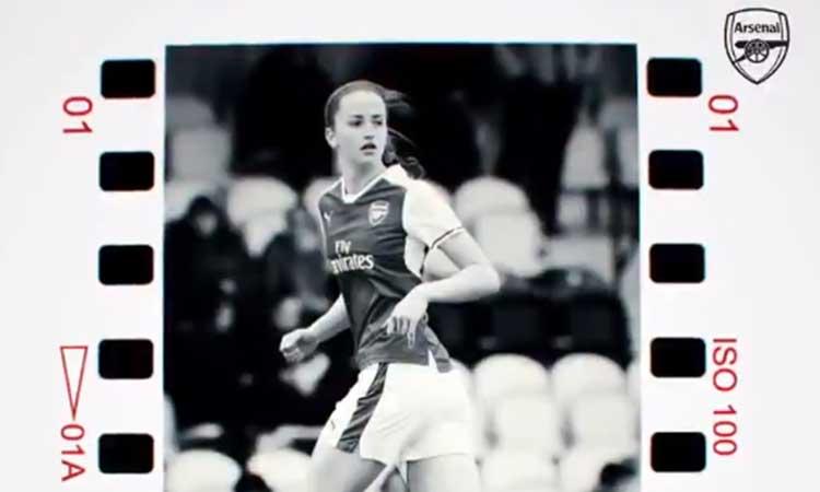 Emotivo recibimiento del Arsenal para Anna Patten