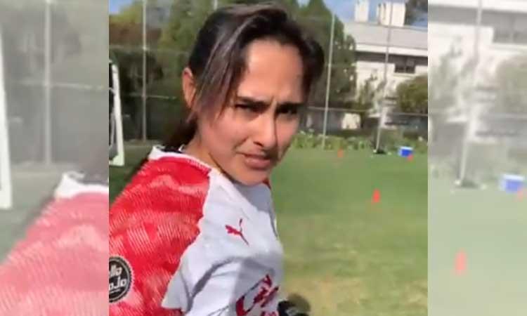"""Blanca Félix: """"Estoy entrenando para no chocar con el poste"""""""
