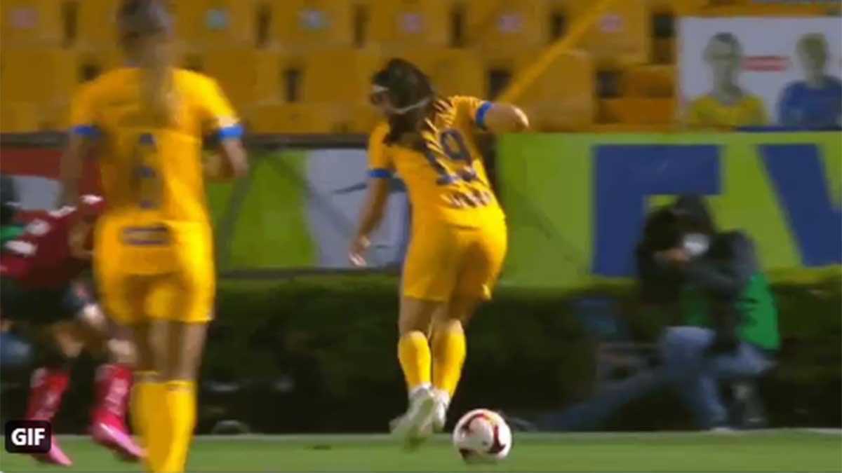 Blanca Solís sorprende con jugada de fantasía en el Tigres vs Toluca