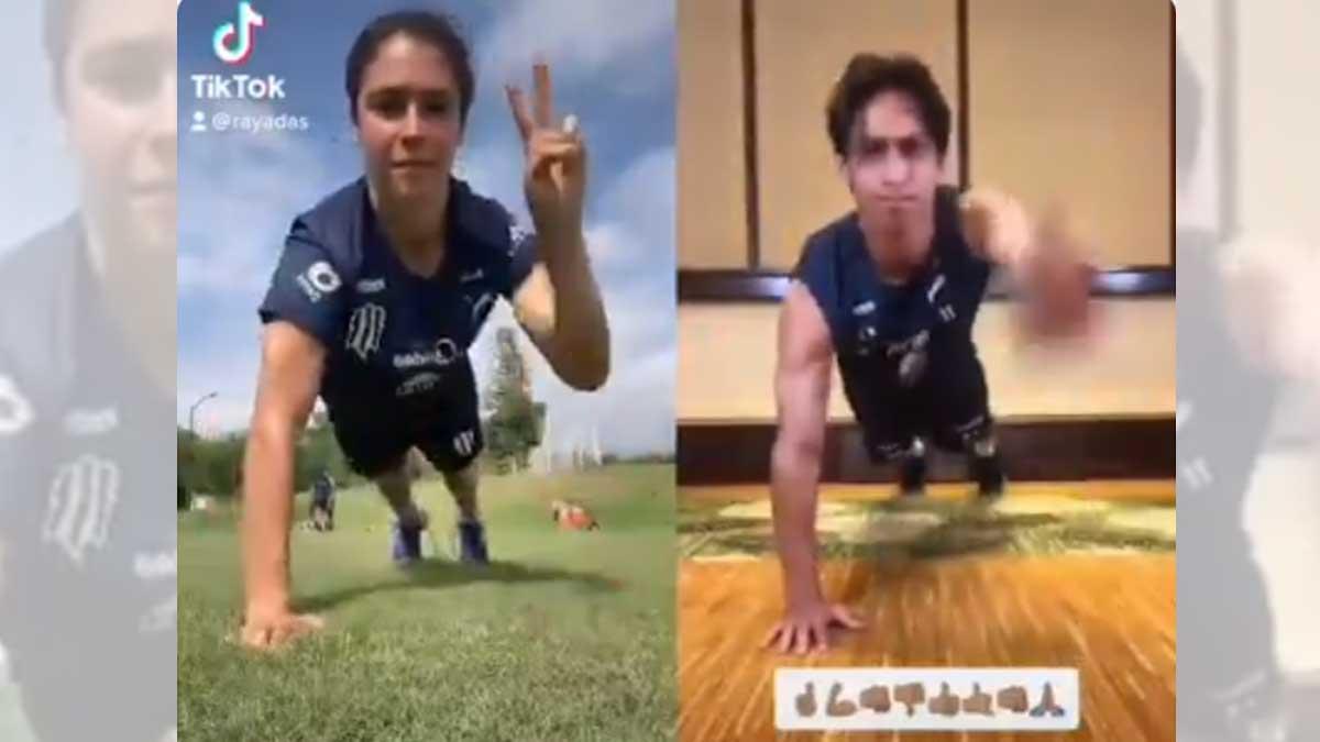 Mónica Flores se lució con el Fitness Challenge de Rayados